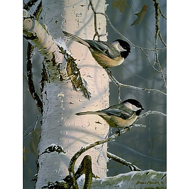Chickadees At Dawn, Canvas, 18