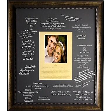 Ensemble de signatures pour un mariage, encadré, 27 x 32 po