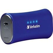 Verbatim® 2200mAh Li-Ion-Portable Battery Power Adapter, Cobalt Blue