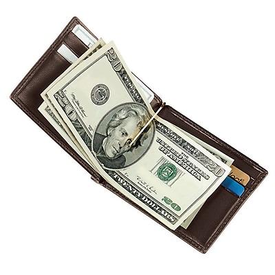 Royce Leather Men's Cash Clip Wallet, Coco