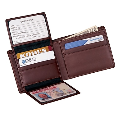Royce Leather Euro Commuter Wallet, Coco, Debossing, Full Name