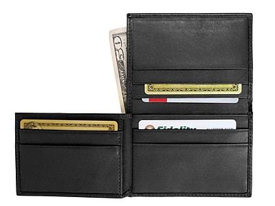 Royce Leather Men's Flip Credit Card Wallet, Black