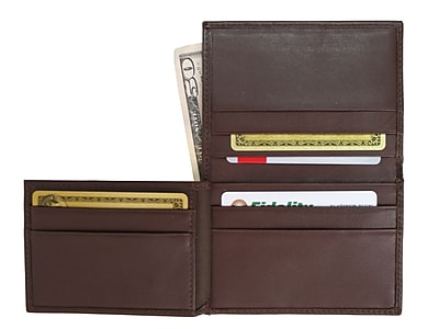 Royce Leather Men's Flip Credit Card Wallet, Coco