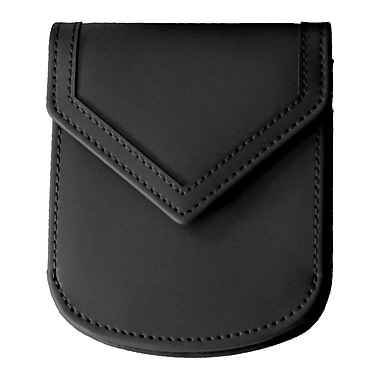 Royce Leather City Wallet, Black, Silver Foil Stamping, 3 Initials