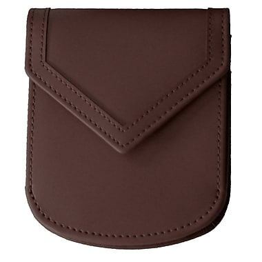 Royce Leather – Portefeuille de ville, chocolat, estampage, 3 initiales