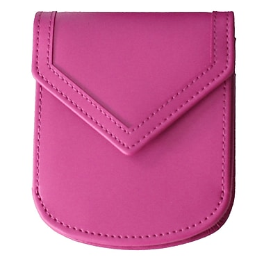 Royce Leather City Wallet, Wild berry, Debossing, 3 Initials