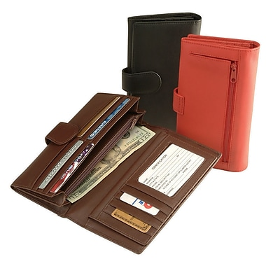Royce Leather CREDIT CARD CLUTCH Red