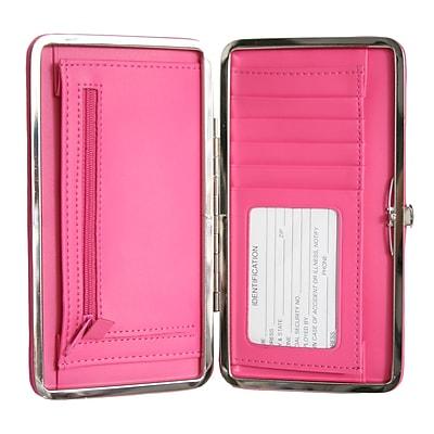 Royce Leather Slim Framed Wallet, Wildberry