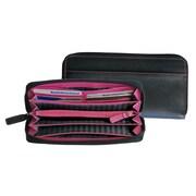 Royce Leather Ladies Fan Wallet Black