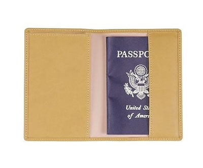 Royce Leather Plain Passport Jacket, Mustard