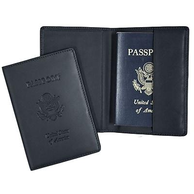 Royce Leather Debossed Passport Jacket, Blue