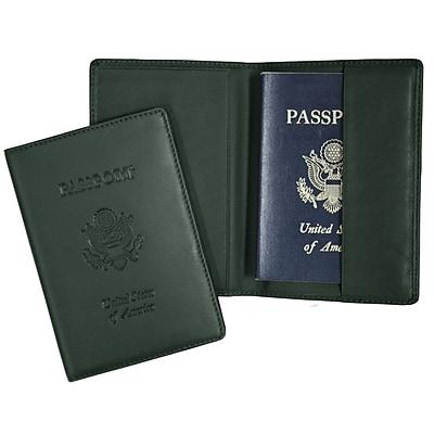 Royce Leather Debossed Passport Jacket, Green