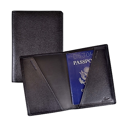 Royce Leather Travel Wallet, Black
