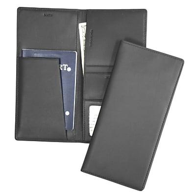 Royce Leather Passport Ticket Holder, Black (211-BLACK-5)