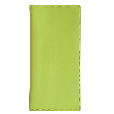 Royce Leather Passport Ticket Holder, Key Lime Green (211-KLG-5), Silver Foil Stamping, Full Name