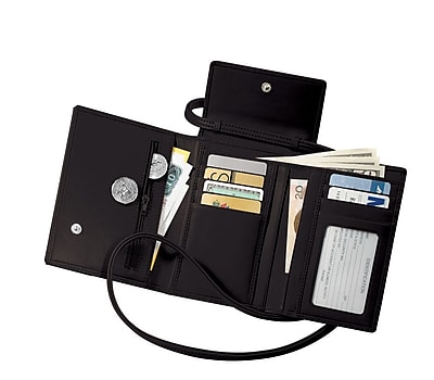 Royce Leather Passport Case, Black