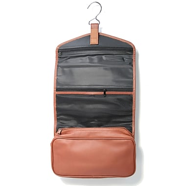 Royce Leather Hanging Toiletry Bag, Tan