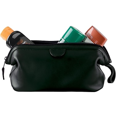 Royce Leather Executive Toiletry Bag, Black