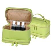 Royce Leather– Sac de voyage pour cosmétiques en cuir véritable, vert lime