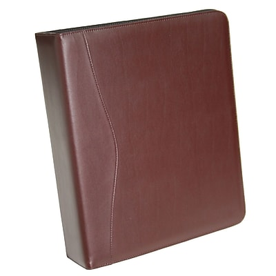 Royce Leather Ring Binder, Burgundy (300-BURG-8)