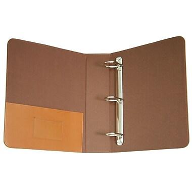 Royce Leather 2-Inch D 3-Ring Binder, Tan (300-TAN-8)