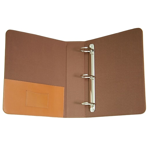 Shop Staples For Royce Leather 2-Inch D 3-Ring Binder, Tan