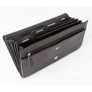 Royce Leather Diplomat Passport Wallet, Black