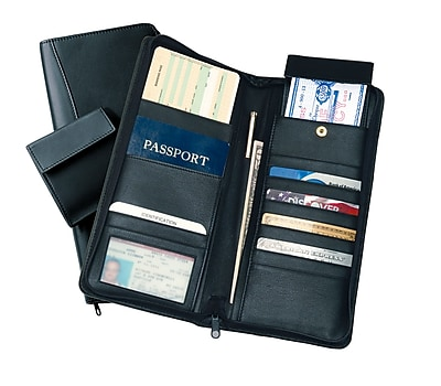 Royce Leather Man-Made Document Case, Black