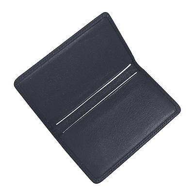 Royce Leather Business Card Case Blue