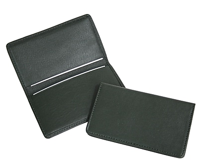 Royce Leather Business Card Case, Green