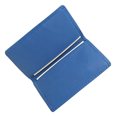 Royce Leather Business Card Case, Ocean Blue