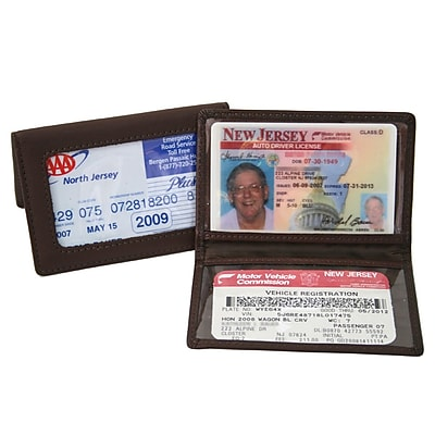 Royce Leather View Id Holder, Coco