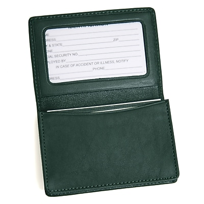 Royce Leather Card Holder, Green
