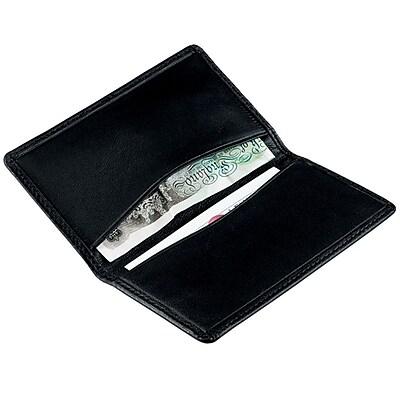 Royce Leather International Card Holder, Black