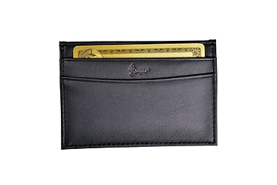 Royce Leather Business Card Case, Black 2oz