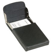 Royce Leather Vertical Framed Card Case Black