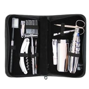 Royce Leather Executive Travel and Grooming Kit, Black
