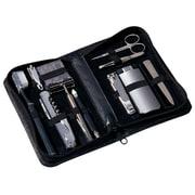 Royce Leather Travel & Groom Kit Black