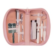 Royce Leather Ladies' Travel Kit with Razor, Carnation Pink