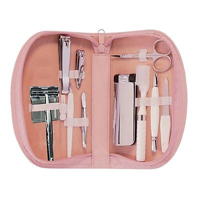 Royce Leather Travel Kit Carnation Pink