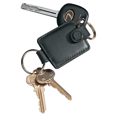 Royce Leather Valet Key Fob, Black