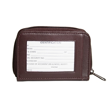 Royce Leather Wallet With Key Fob Burgundy