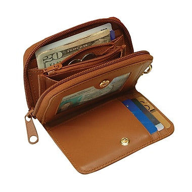 Royce Leather Wallet With Key Fob Tan