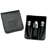 "Royce Leather 1""H x 5.25""W x 6""L Solid Wine Boxes, Black"