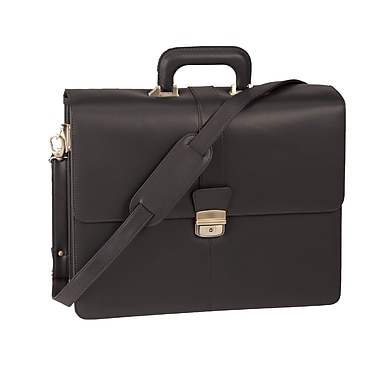 Royce Leather Legal Briefcase Black