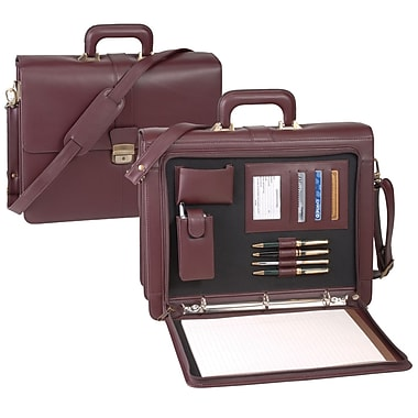 Royce Leather Legal Briefcase Burgundy