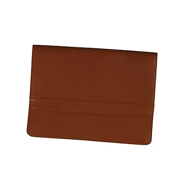 Royce Leather Flap over Brief, Tan, Gold Foil Stamping, Full Name