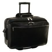 Royce Leather - Mallette de luxe sur roulettes pour portatif, noir