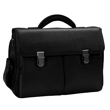 Royce Leather Laptop Briefcase, Black