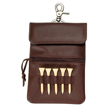 Royce Leather Clip-On Golf Accessory Bag, Coco, Debossing, 3 Initials